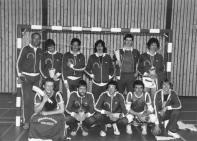 De heren kampioen in 1982: staand v.l.n.r. Cor Bakker (coach), Jos Kuys, Chris-Jan v.d. Drift, Piet van Kampen, Harry Warmerdam en Cor Bader. Hurkend v.l.n.r.: Ton Vogels, Jan Lamboo, Fred van Kesteren, René Vrolijk en keeper Henry van Wees.