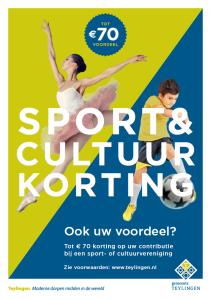 Sport en cultuur korting flyer