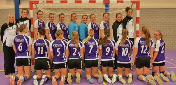 teamfoto dames selectie sponsor achterkant