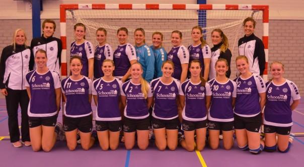 teamfoto dames selectie sponsor voorkant